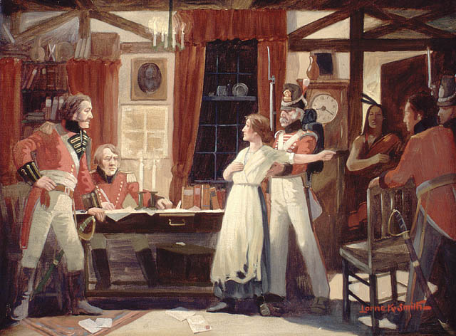 File:Laura Secord warns Fitzgibbons, 1813.jpg