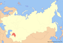 Location of Karakalpakstan (New Union)