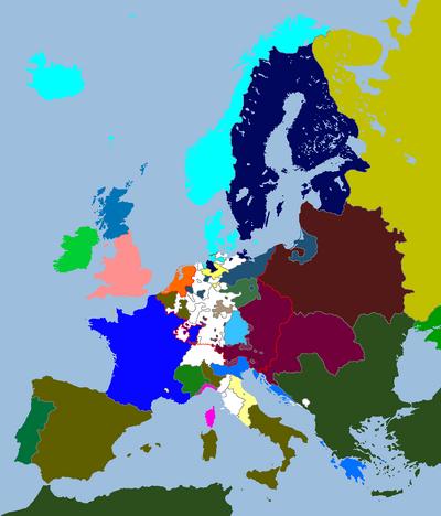European Map 1697 (An Orange Dynasty)