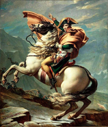 Italian Napoleon Crossing the Alps (1800) by Jacques-Louis David (Pax Columbia)
