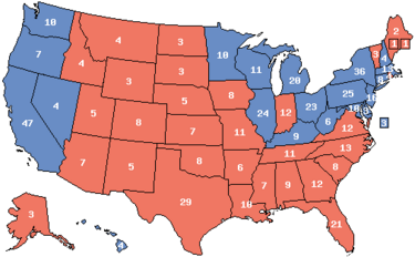 1984 Electoral Map (Ford Momentum)