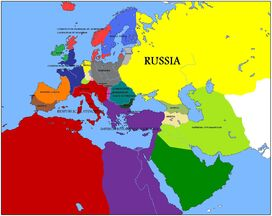 Europe and Med. roma invicta (politaical)b