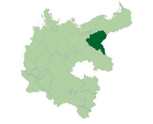 Deutschland Lage von Suedpreussen