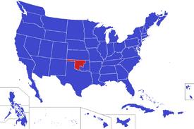 United States map - Oklahoma (Alternity)