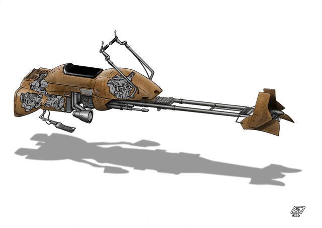 File:W i P Star Wars Speeder Bike by Paul Muad Dib.jpg