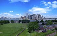 Fort Jay Governors Island and Lower Manhattan skyline