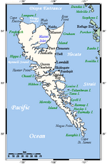 Queen Charlotte Islands Map