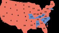 1952 Electoral Map, 6-2-5
