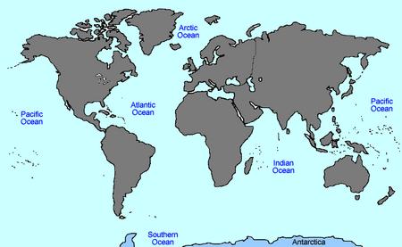 VINW World Map ANTARCTICA
