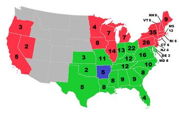 Electoral Map 1864