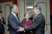 Reagans with Billy Graham