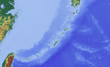 Location map Ryukyu Islands