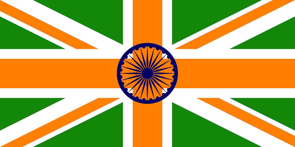 Indian Flag History: Image - India UK Flag.png