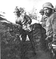 Turkish trenches at Gallipoli
