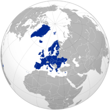 Location of European Union (One Europe Under A Union)