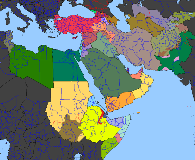 Arab Winter Map (2011) (Update IV)