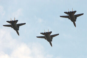 A formation of Iranian Tomcats in flight