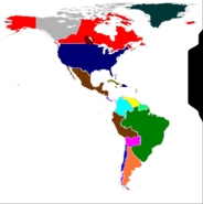 Map of americas 1875