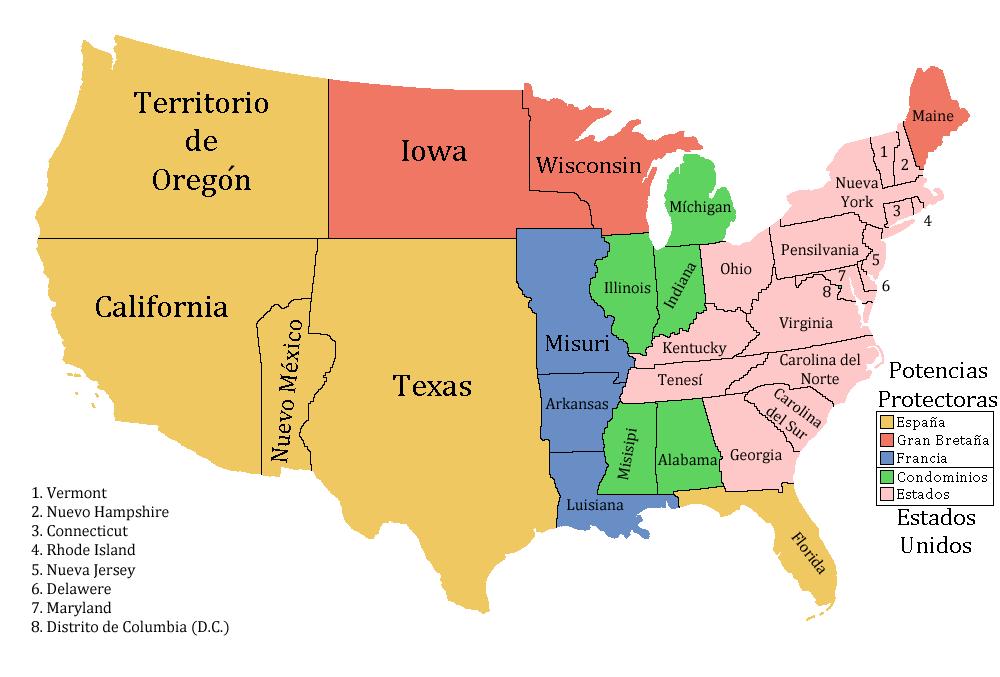 united states and oregon territory