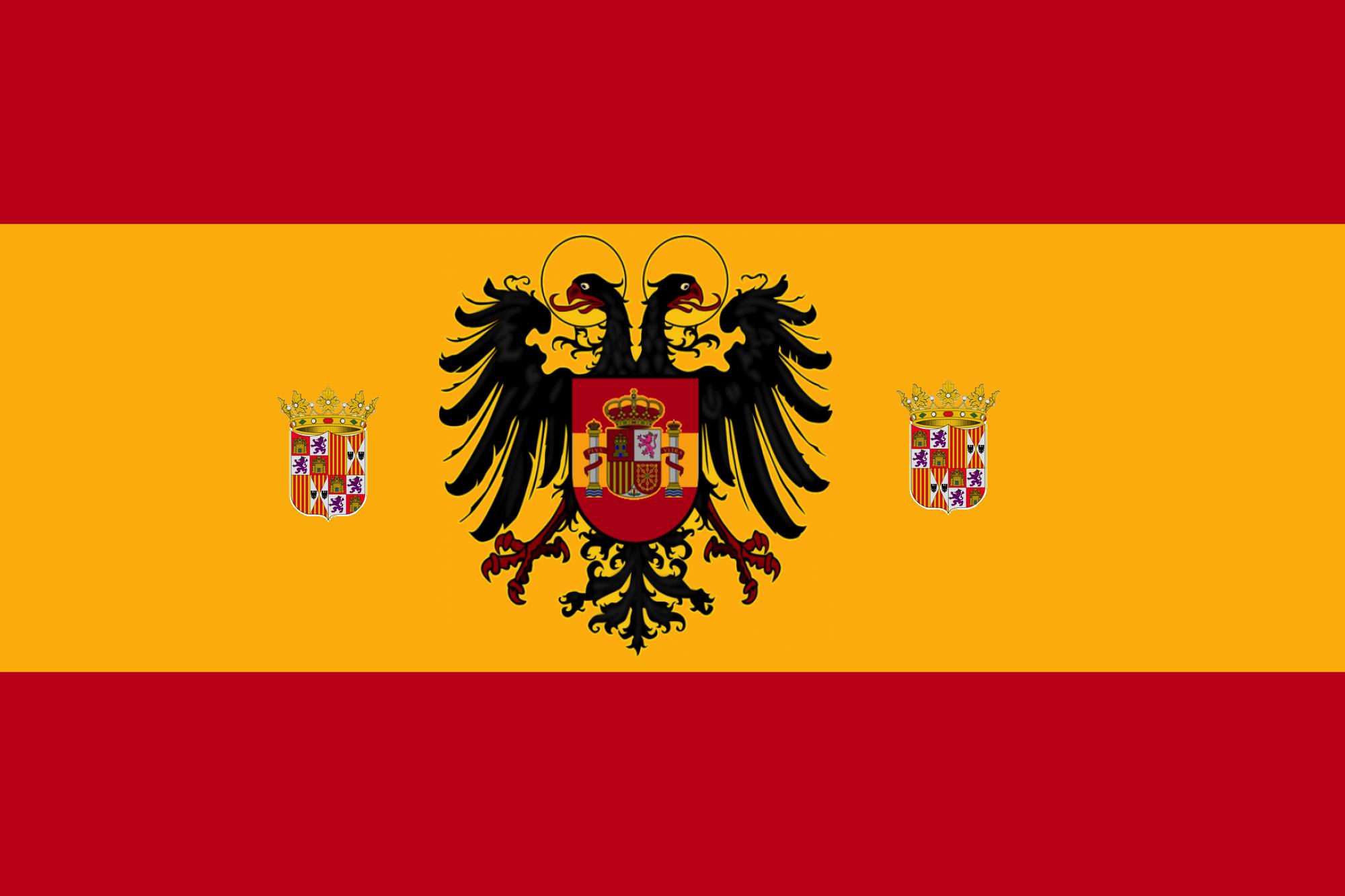 image flag of habsburg spain center eagle monarchs png