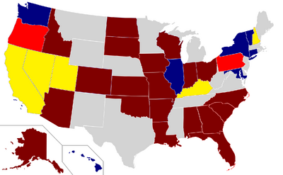 GOP Congress 2010 Senate election map