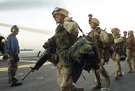 File:Operation Enduring Liberty U.S. soldiers aboard aircraft carrier 2001.png