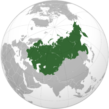 Russian Empire orthographic map
