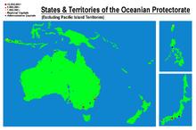 Oceanian protectorate map