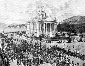 Palácio Monroe (funeral de Joaquim Nabuco)