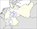 CV Map of Free City of Lübeck 1918-1934