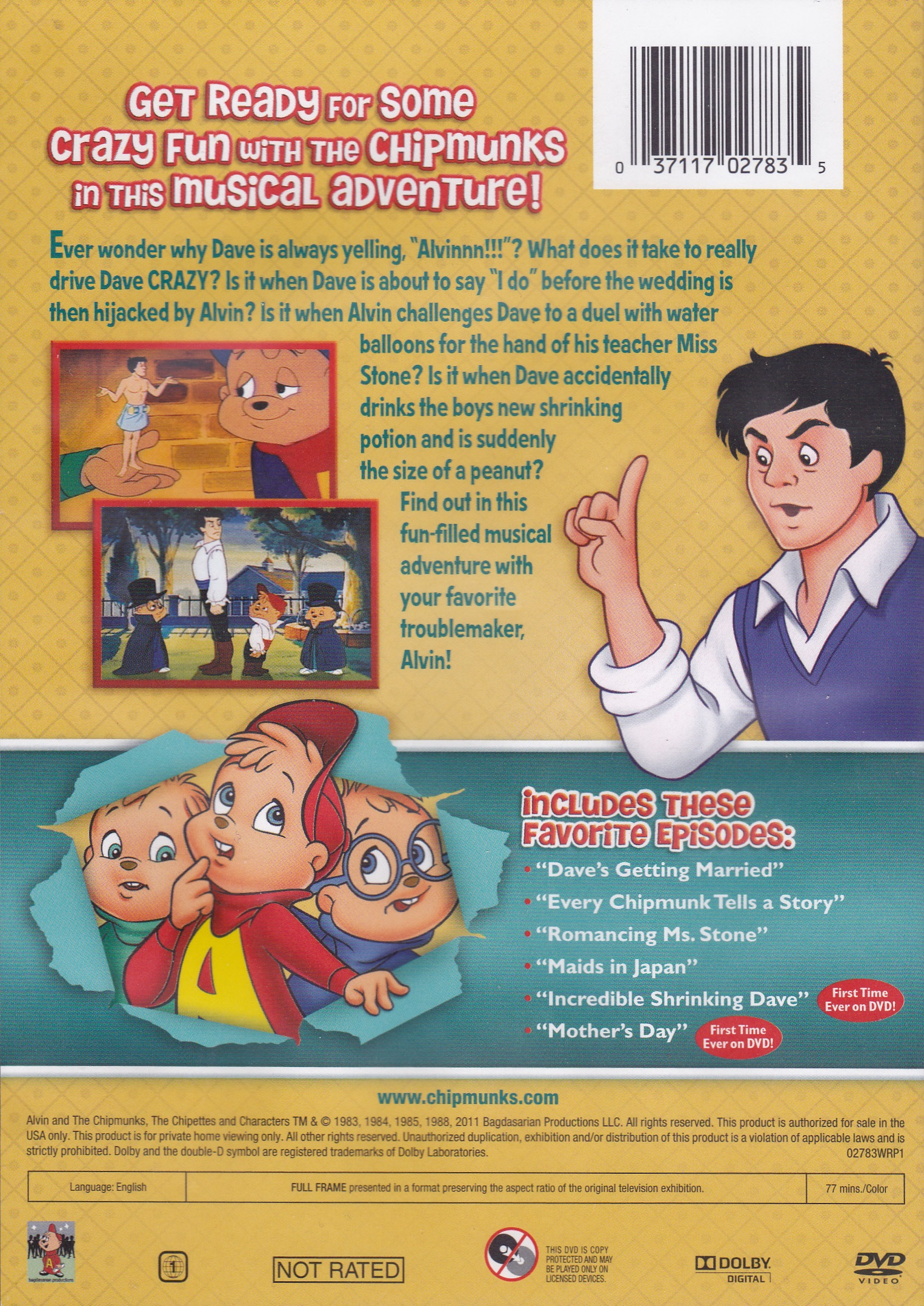 Driving Dave Crazy DVD  Alvin and the Chipmunks Wiki