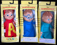 The Chipmunks stuffed figures
