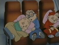 The Chipmunks Sleeping On Plane