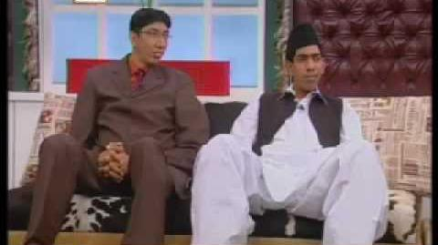 Naseer Somroo & Haq Nawaz Tallest men In Good Mornin Pakistan p2