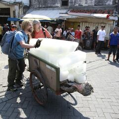 James &amp; Abba doing the <i>Ice-by-the-Pound</i> <a href=