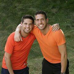 An alternate promotional photo of Sam &amp; Dan for <i>The Amazing Race</i>.