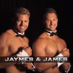 Jaymes & James' opening pose.