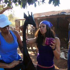 Jazmine &amp; Danielle doing the <i>Co-op</i> Detour in <a href=