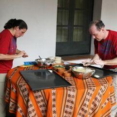 Dave &amp; Cherie making Empanadas during <a href=