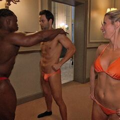 Jeremy &amp; Sandy getting ready to show off in Speedos in <a href=
