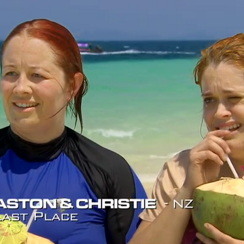 Aston & Christie were eliminated from the race in 8th place.