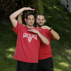 An alternate promotional photo of Zev &amp; Justin for <i>The Amazing Race</i>.
