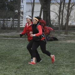 Mona &amp; Beth running to the <a href=