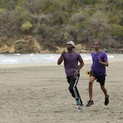 Darius &amp; Cameron running to the <a href=