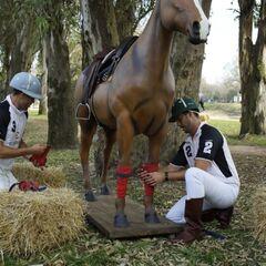 Tanner &amp; Josh doing the <i>Horse</i> Detour in Leg 3.