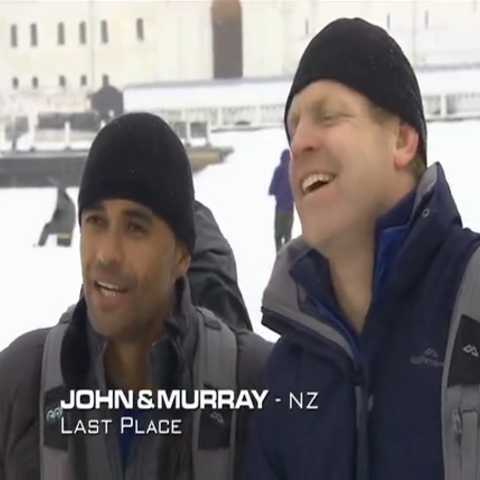 John & Murray were eliminated from the race in 6th place after Daniel & Ryan chose not to use their Salvage Pass to save them.