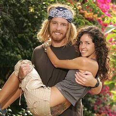 TK &amp; Rachel's alternate promotional photo for <i>The Amazing Race</i>.
