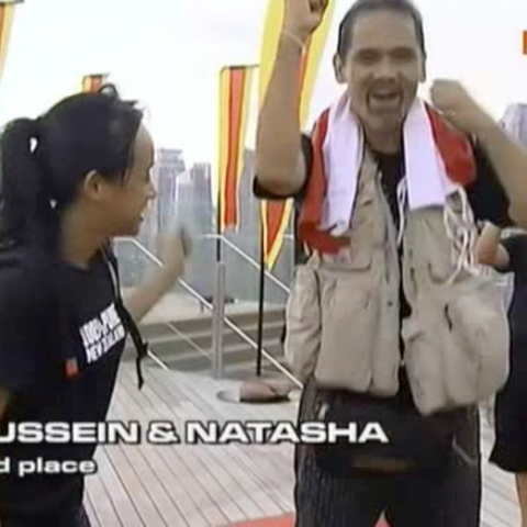 Hussein &amp; Natasha finished the race in 3rd Place after quitting the final <a href=