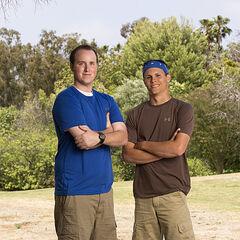 Tim &amp; Danny's alternate promotional photo for <i>The Amazing Race</i>.