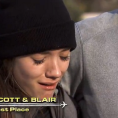 Blair crying when they were told that they were last  place.